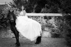 horseback wedding
