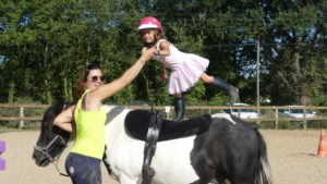 voltige a poney Touraine Cheval